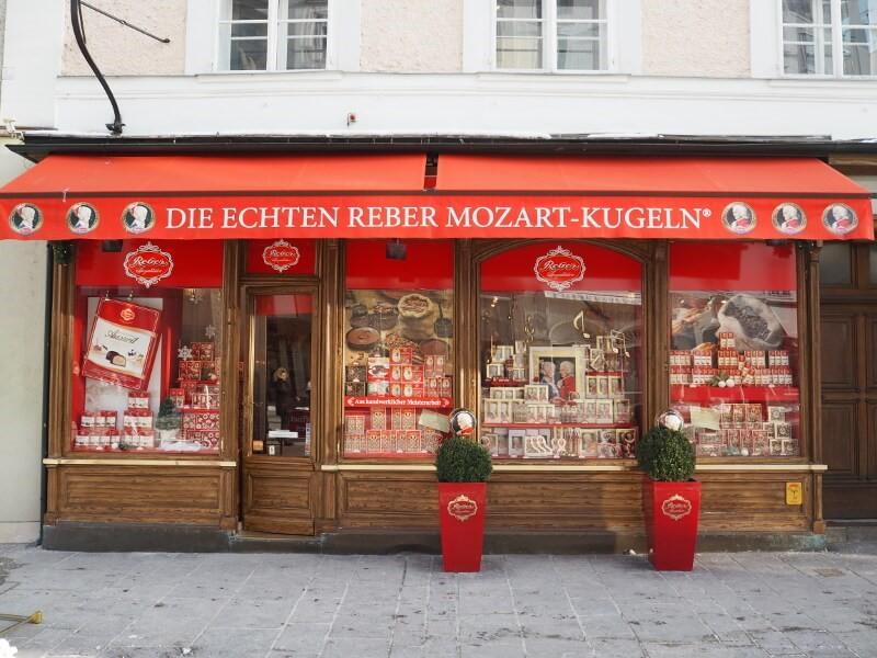 Mozart kugeln witryna - zwiedzania Salzburga